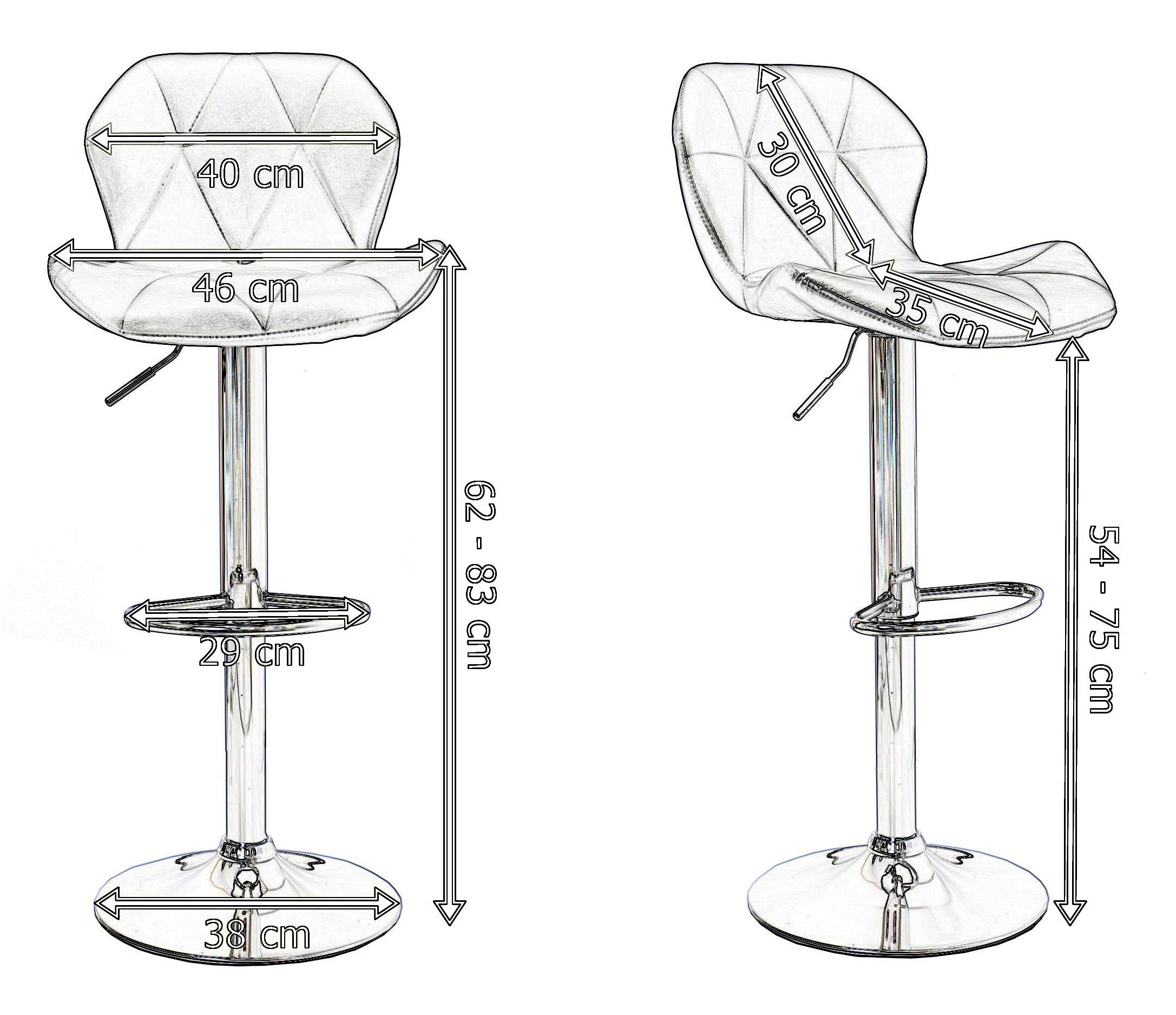барные стулья чертеж