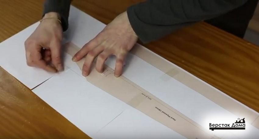 Размечаем шаблон на кальке