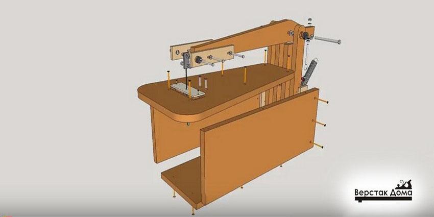 Конструкция самодельного станка на базе электролобзика