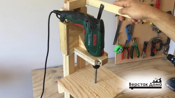 Сверление отверстия в столе