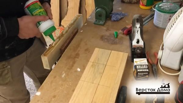 Склеиваем мебельный щит