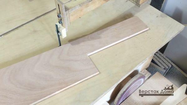 Форма заднего стола фуговального станка