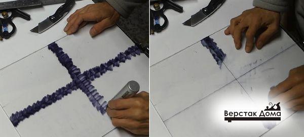 Прорисовывают линию фломастером