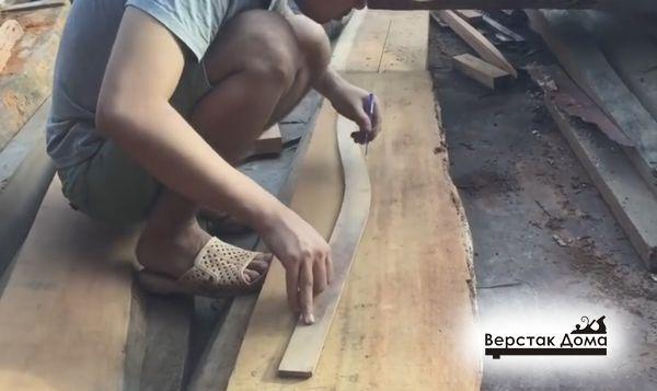 Разметка ножек